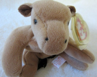 Ty Beanie Baby DERBY Retired 1995 Original Brown Black Horse Pony Plush Toy Animal Rare Collectible