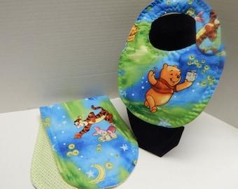 Newborn Baby  Bib and Burp Cloth Set Disney Winnie the Pooh