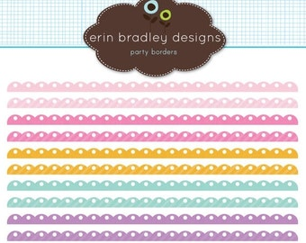 60% OFF SALE Digital Scrapbook Embellishments Personal & Commercial Use Scalloped Borders Instant Download