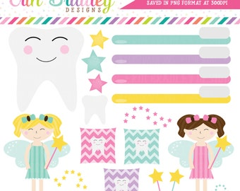 Tooth Fairy Clipart Instant Download Personal & Commercial Use Clip Art Graphics