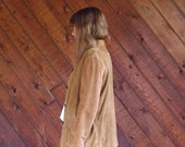 30% off ... Brown Suede Button Down Overshirt Layering Shirt Jacket - Vintage 90s - S M