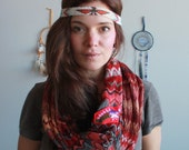 Chevron Fringe Upcycled Recycled Mexican Embroidered Infinty Mobius Bohemian OOAK Gypsy Gifts For Her