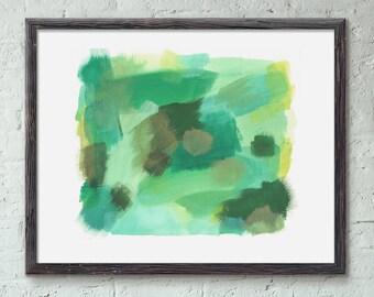 Golden Pear Abstract Art Print