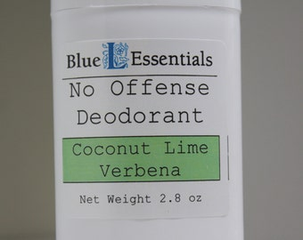 Natural Deodorant - No Offense Deodorant - Coconut Lime Verbena - Clean and Fresh