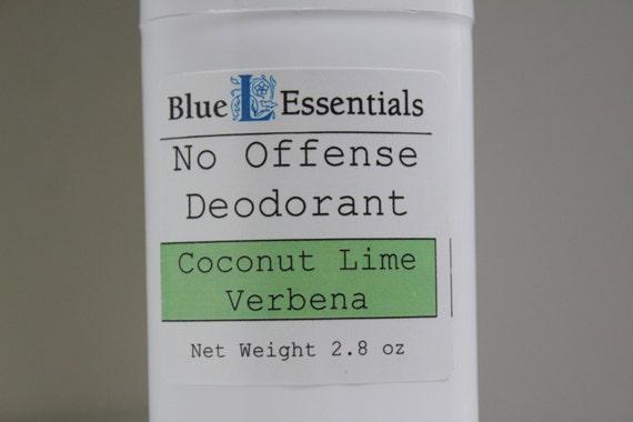 Natural Deodorant - No Offense Deodorant - Coconut Lime Verbena - Clean and Fresh