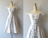 Bisouterie dress | vintage 1950s dress | 50s party dress