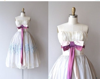 25% OFF.... Piquette dress   vintage 1950s dress   formal 50s dress