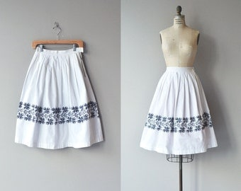 Nordica skirt | vintage 1950s skirt | cotton 50s skirt