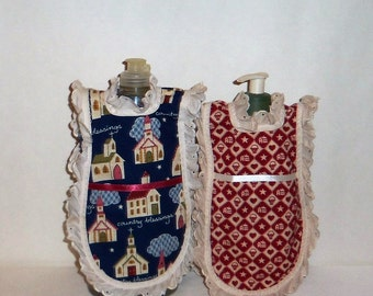 Dish Soap Apron, Eyelet Lace, Kitchen Decor, Churches, Lotion Cover, Detergent Cover, Country Decor