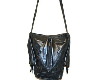Vintage Leather Grunge Purse
