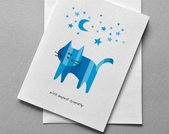 Cat Sympathy, Cat, Kitty, Sympathy, Greeting card, Sale