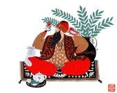 Sheikh Art Print 10x8