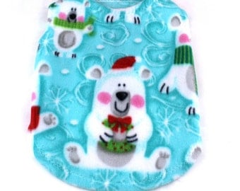 Dog Sweater, Fleece dog sweater, Christmas dog sweater, Polar Bear