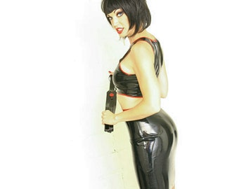 Latex Pencil Skirt, made-to-order in a variety of colors and sizes