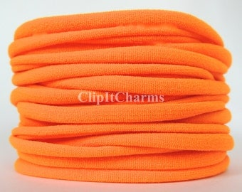 Wholesale .39+Neon Orange Stretch Nylon Chokers...Use for bottle cap jewelry,pendants,charms, headbands/doubles as a bracelet or anklet....