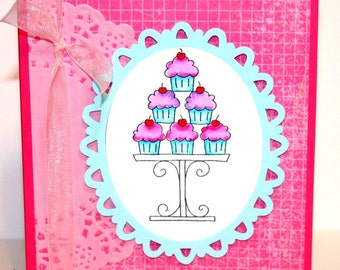 Hope Your Day Is the Sweetest Ever - Happy Birthday Card - Cupcake Card - Birthday Card - Pink Birthday Card