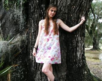 Women's Floral Print Sundress, Print Dress, Women's Sundress, Tunic Dress, Floral Summer Dress, Festival Fashion