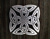 Squared Celtic Knot-Work Brooch | Celtic Brooch | Scottish Jewelry | Celtic Gift | Irish Jewelry | Celtic Jewelry | by Treasure Cast Pewter
