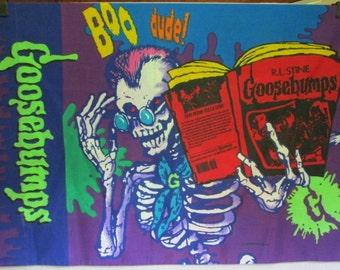 Vintage GOOSEBUMPS Pillowcase Curly the Skeleton Mummy