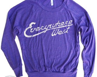 Womens WEST COAST Tri-Blend Pullover - american apparel S M L (8 Colors)