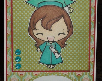 Handmade Graduation Card - Girl