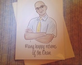 Many Happy Returns of the Dean greeting card - Community Dean Pelton