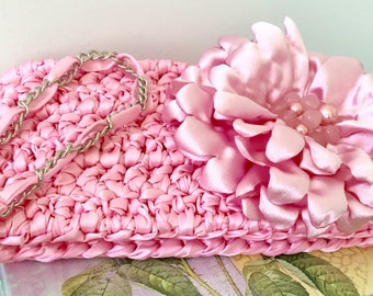 Large Clutch / Pink Clutch / Colorful Clutch / Flower Clutch / Bridesmaid Clutch / Modern Clutch / Stylish Clutch / Vegan Bag - Made to Orde
