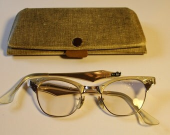 Vintage 1950's Cats Eye Eyeglasses by Imperial of Miami, Will Need Repair
