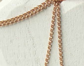 Copper chain necklace choose 14 inch - 36 inch SMALL link solid copper SF187