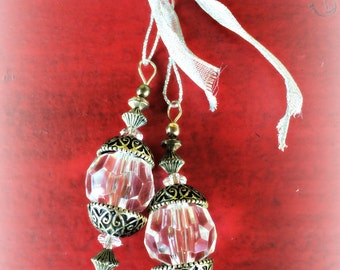 Glistening Beaded  Ornament /Glistening Beaded Handcrafted Ornament (Ready to Ship)