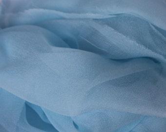 Silk Scarf - Seafoam - Accessory - Nuno Felting -  Photo Prop - Infant Wrap - Low Shipping