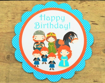 Brave Friends Party - Custom Brave Party Sign by The Birthday House