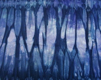Iris Blue Shibori Fabric Yard Cotton Quilt Fabric