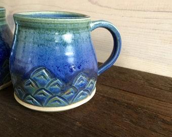 Mermaid Mug - Tea Cup - Coffee Mug - Espresso - Latte - Wanderer - Wanderlust - Blue, Turquoise, Green - Water, Surf - Ocean, Waves