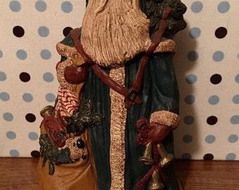 Vintage figurine statue figurine - 1987 Roberta Reed Santa santa claus christmas decor