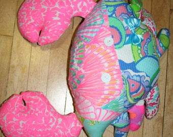 Crab made with Lilly pulitzer fabric
