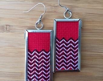 Twin Peaks earrings