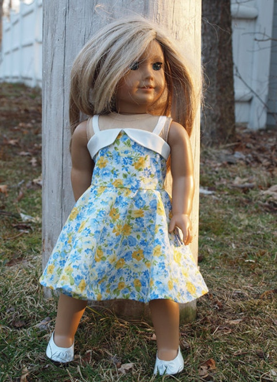 18 inch Doll  Clothes -   Girl Doll Clothes - 1950's Style Sundress