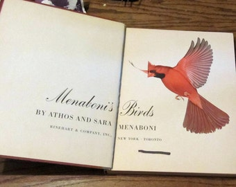 Mendaboni's Birds vintage book 1950 by Athos and Sara Mendaboni