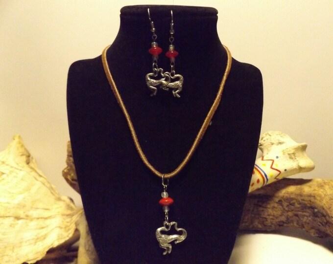 Capricorn Goat Necklace and Earring set,  Zodiac,
