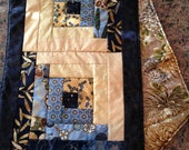 Quilted Log Cabin Table Runner