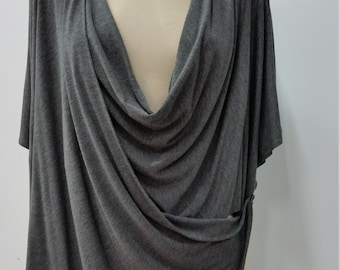 Women clothing, multiway shrug, gray jersey, 7 in 1, one size