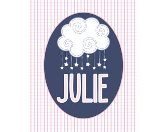 Girls Personalized Name Print Julie