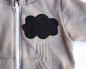 unisex baby hoodie - The LITTLE BLACK RAINCLOUD - boy - girl - rain cloud hoodie - baby shower gift - paw - sweatshirt - black raincloud