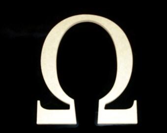 "16"" Unpainted Wooden Greek Letters, Beta,Delta,Kappa,Theta,Omega, Zeta 16GK50     -4   137"
