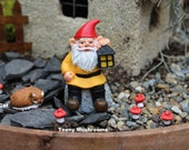 """Miniature gnomes-Yoga Girl-Teeny Tiny Garden gnome-Wee fairy garden gnomes-6 colors to choose from-1/2"""" without post"""