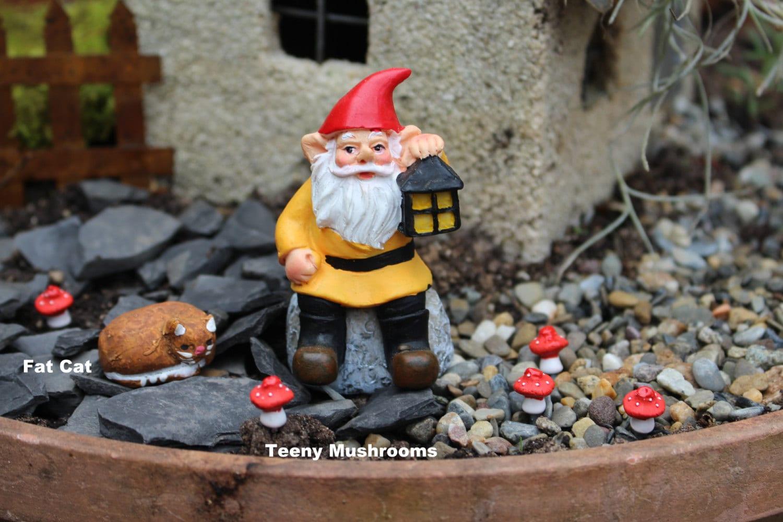 Gnome Garden: Miniature Gnomes-Yoga Girl-Teeny Tiny Garden Gnome-Wee Fairy