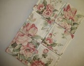Fabric Coasters Set of 6 Shabby Chic Pink Floral Coaster