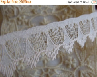 BIG SALE Scrumptious Pale Pink Victorian Netted English Lace Yardage