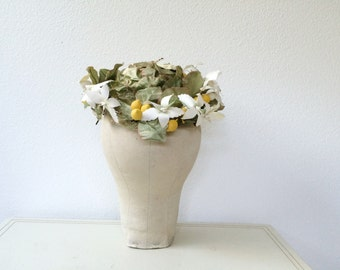 vintage floral crown / 1960s hat / Sweet Lemon hat